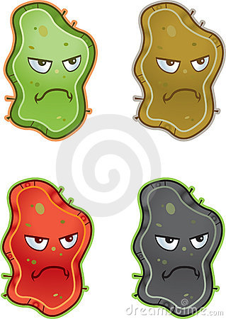 Variety of different colored germs