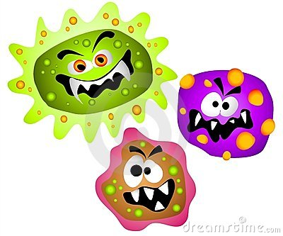 Stock photography cartoon virus germ bacteria