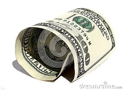 Gerollter Dollar