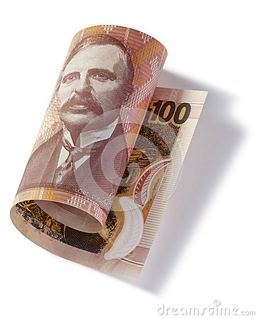 Gerolltes Neuseeland hundert Dollar