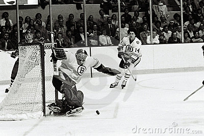 Gerry Cheevers Boston Bruins Editorial Photo