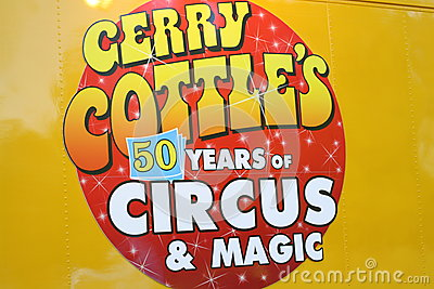 Gerry Cottle s Circus Editorial Stock Photo