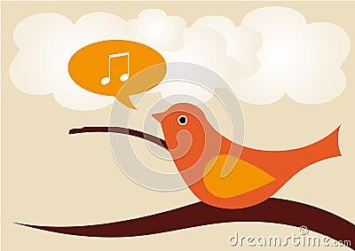 Gesang-Vogel