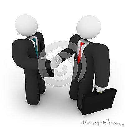 Geschäfts-Abkommen - zwei anhaltene Koffer
