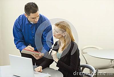 Geschäftsleute Gespräch