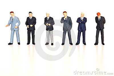 Geschäftsmänner ausgerichtet