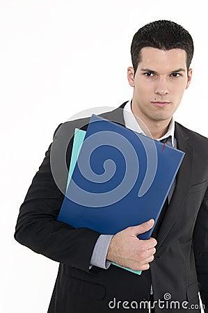 Geschäftsmann mit Dokumenten