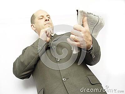 Geschäftsmann mit Papier