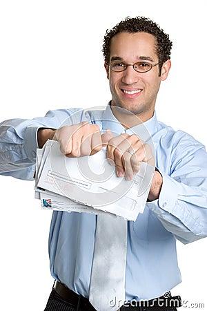 Geschäftsmann-Rechnungen