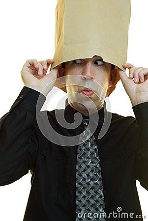 Geschäftsmann-Verstecken