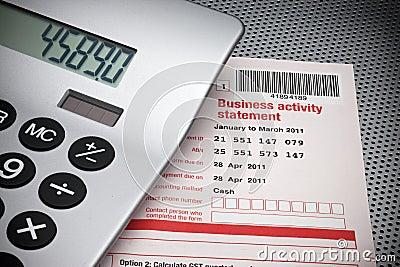 Geschäftstätigkeit-Anweisung-Steuer