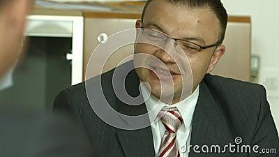 Geschäftstreffen, Interview für Job stock video footage