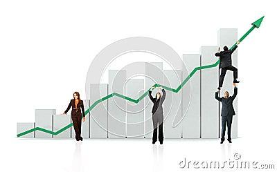 Geschäftswachstum und -erfolg