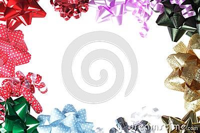 geschenk bogen rand mit wei em hintergrund stockbild bild 27238031. Black Bedroom Furniture Sets. Home Design Ideas
