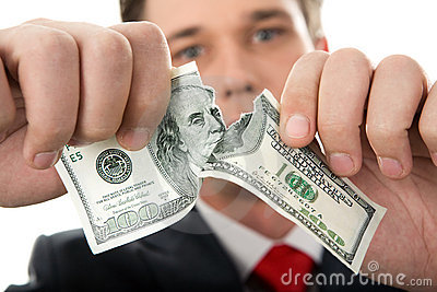 Gescheurde dollar