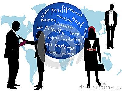 Geschäfts-Leute und wores