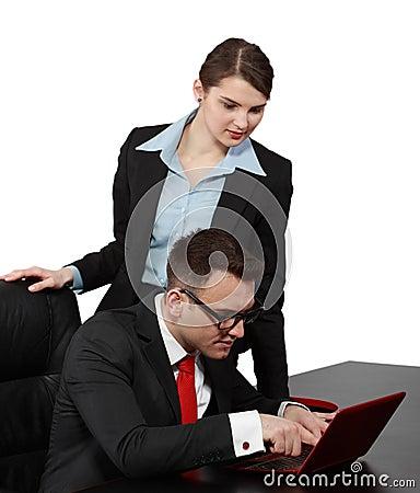 Geschäfts-Paare