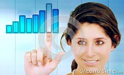 Geschäftsfrauberühren