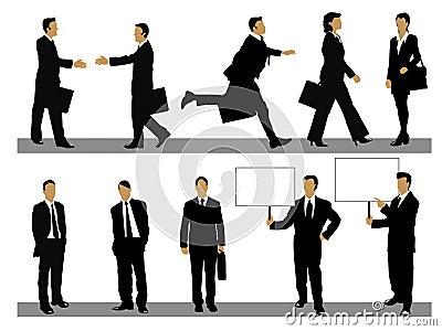 Geschäftsleute Ansammlung
