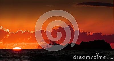 Geschluckt durch eine Welle
