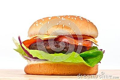Geschmackvoller Cheeseburger
