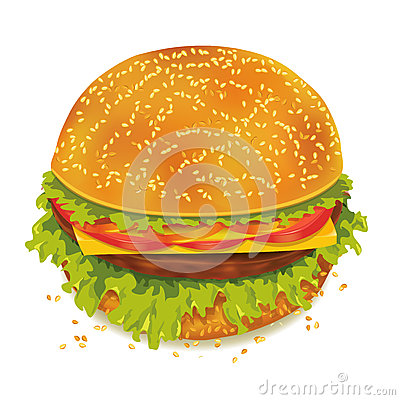 Geschmackvoller Hamburger