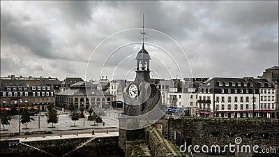 Geschossen auf Kennzeichen II Canons 5D mit Hauptl Linsen Alte verstärkte französische Hafenstadt stock video