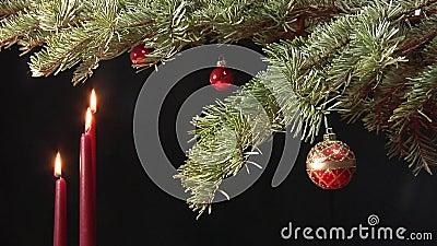 Geschotene Kerstmisscène, nog stock video