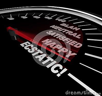 Geschwindigkeitsmesser - Stufen des Glückes
