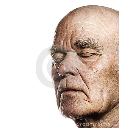 Gesicht des älteren Mannes