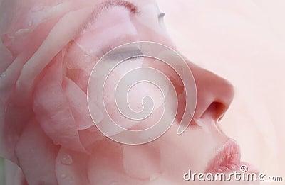 Gesichtsblumen-Schablonen-Therapie