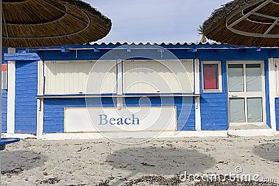 Gesloten de bar van het strand