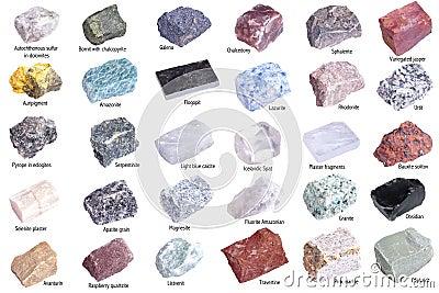 Geïsoleerdea mineralen