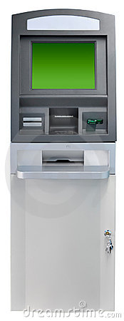 Geïsoleerdee de machine van ATM