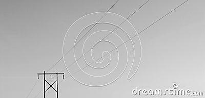 Geïsoleerdem Powerline B/W