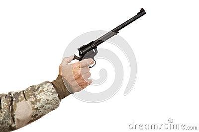 Geïsoleerde de schutter van het enig-actiepistool
