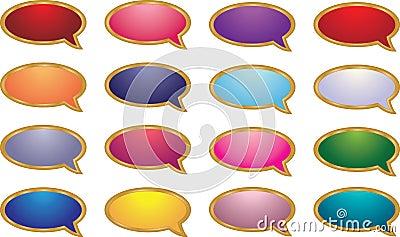 Gesprächs-Luftblasen