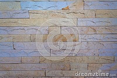 Gestapelte Steinschiefer-Wand