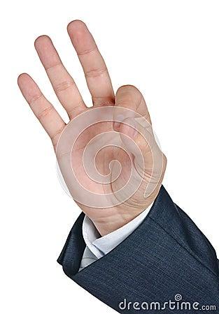 Gesticular la AUTORIZACIÓN de la mano