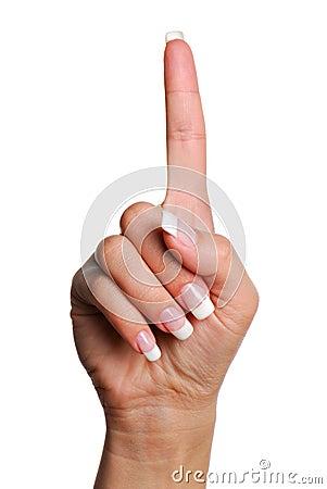 Gesture number one.