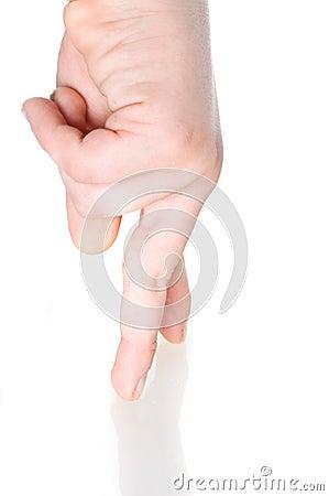 Gestures of hands.
