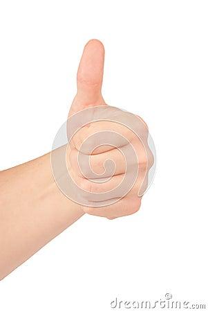 Gestures of hands - OK.
