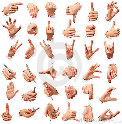 Free Gestures Of Hands. Love Of Men Royalty Free Stock Photo - 3825045