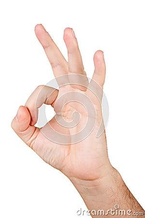 Gesturing APPROVAZIONE della mano