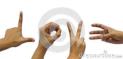 Gesturing hand Love