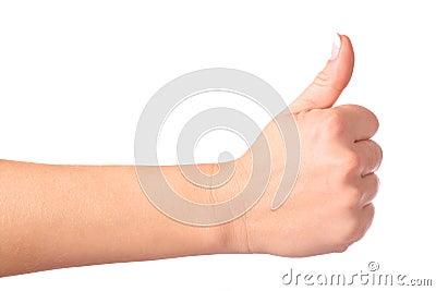 Gesturing hand OK