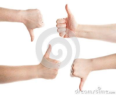 Gesturing hands