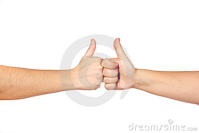 Gesturing hands OK