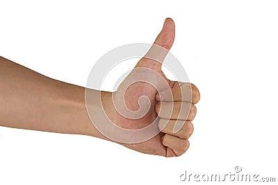 Gesturing man hand OK