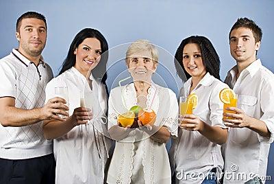 Gesunde Gruppenleute